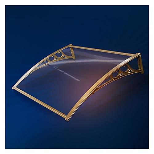 HYL Auvent de toit Auvent for portes Auvent transparent durable porte Auvent couverture, en alliage d'aluminium extérieur Canopy Auvent, Conseil silencieux et transparent PC étanche à la pluie à usage