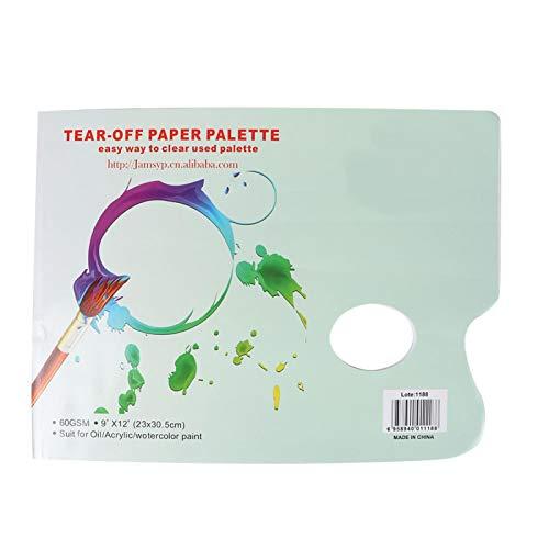 Papier paletowy, odrywany papier A4 Paleta odporna na krwawienie Paleta z farbą Papier do akwareli Home Chirld Diy Rękodzieło Malowanie gwasz Artysta Materiały eksploatacyjne Narzędzie