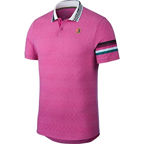 NIKE M Nkct ADV MB Nt Camiseta Polo, Hombre, Active Fuchsia, S