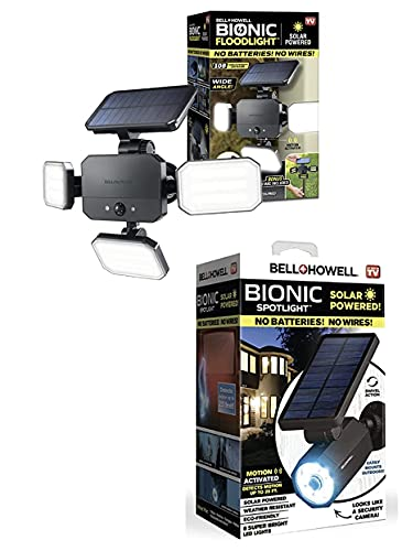 Product Image Bell+Howell 2963 Bionic Spotlight Light Solar-Powered, Motion-Sensing, Outdoor All-Season Water Proof 108 Powerful Security Lighting with