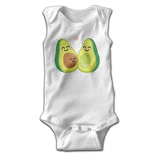 ODYGDG51G - Body sin Mangas para bebé y niña, diseño de Aguacate 167 6 Meses