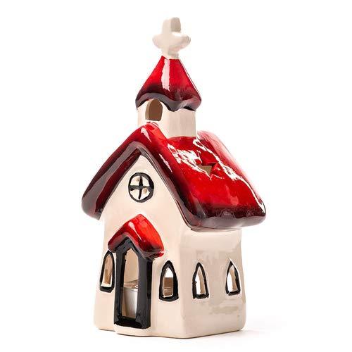 Seyko Windlicht Haus, Laterne, Lichthaus, Teelichthalter, Weihnachten, Deko Haus H 17cm