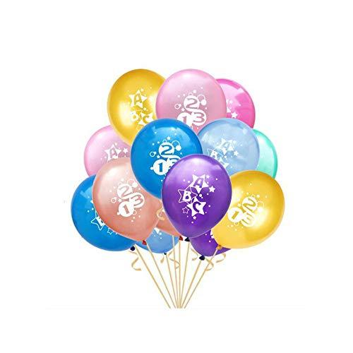 Oblique Unique® 10x Luftballons für Schuleinführung Einschulung Schulanfang Schulstart Deko Ballons mit ABC und 123 Motiv im Farbmix