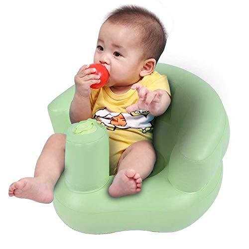 Baby Aufblasbares Stuhl,Baby Aufblasbarer Sessel Baby Bad Stuhl Sitz Aufblasbarer Stuhl Sofa Spielen für Kinder (48 * 42 * 22cm) (grün)