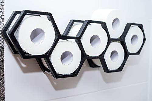 Houten toiletpapierhouder Thuis Badkamer Papier Roll Weefsel Wandplank Gemonteerd Houten Houder Modern Ontwerp Zwart