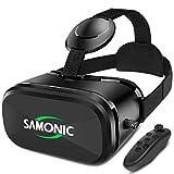 SAMONIC スマートグラス 3D VRゴーグル ゲーム 映画 動画4.0~6.3インチiPhone Androidスマホ対応「Bluetoothコントローラ、日本語説明書付属」