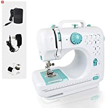 Sotech Electric Household Sewing Machine with 12 Stitches, 2 Speeds, Portable Stitching Machine with Foot Pedal, LED Light, Handheld Crafting Mending Machine for Kids, Beginners