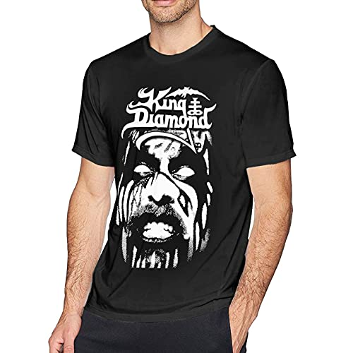 Xucherry Ki-Ng Di-Amond Men Classic Breathable Crew T Shirt Hip Hop Short Sleeve Tee Man's Casual Tops Black