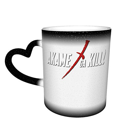 IHHASD Taza de café Akame ga Kill Logo mágico que cambia el calor