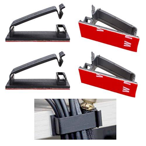 Kabelclips Selbstklebend 30mm (Schwarz 20-Stück), Eiito FC-30 Kabelbefestigung Drahthalter Kabelschellen Kabelklemme kabel management