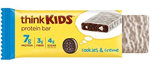 think! thinkKIDS Protein Bars - Cookies & Creme 7g Protein,...