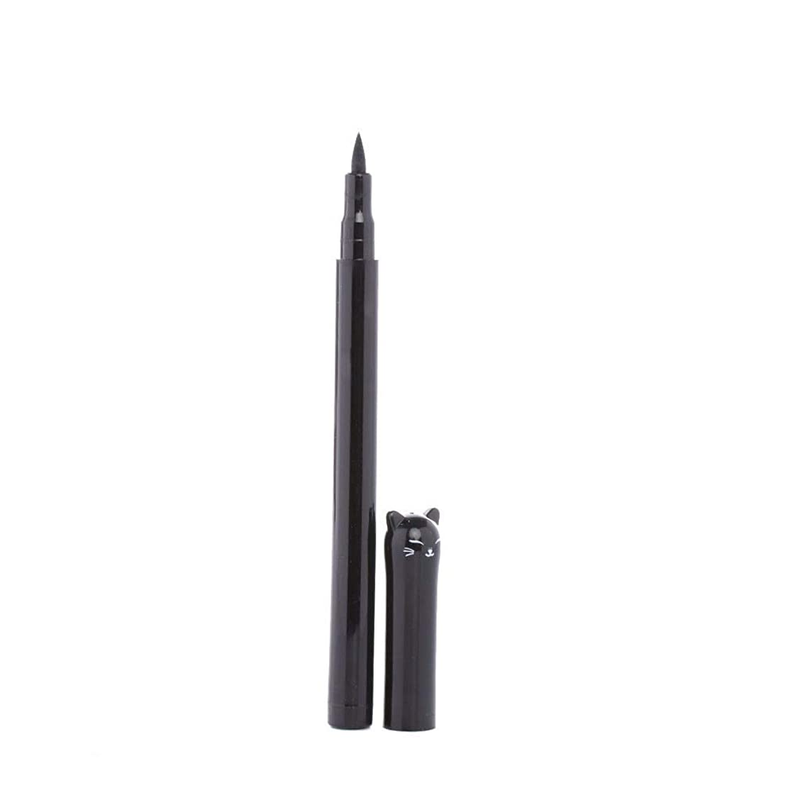 プレゼンテーション惨めなゴシップGeobiva - 1PC NEWビューティーキャットスタイルブラック長持ち防水リキッドアイライナーアイライナーペン鉛筆メイクアップ化粧品ツール