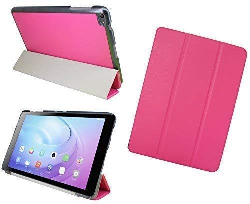 ENERGMiX Tablet Tasche Hülle kompatibel mit Huawei MediaPad T2 10.0 Pro (10,1 Zoll) Cover Hülle Etui Slim-LINE mit Ständer in Pink