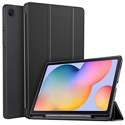 IVSO Cover Case for Samsung Galaxy Tab S6 Lite, Slim Soft Cover Case with Pen Slot for Samsung Galaxy Tab S6 Lite 10.4 inch 2020, Black