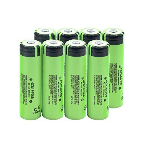 HTRN BateríAs De Litio Li-Ion De 3.7v 3400mah 18650, Cargables para Las CéLulas De La Linterna del Banco del Poder 8pieces