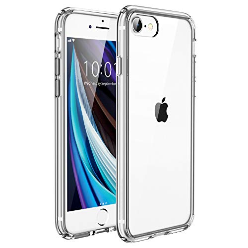 UNBREAKcable iPhone SE 2020 Hülle, iPhone 8/7 Hülle [Anti-Gelb & Kratzfest] - Handyhülle iPhone SE 2020/8/7 Ultra Clear, Hartplastik Back & Weich Silikon Bumper Cover Klar Schutzhülle - Transparent