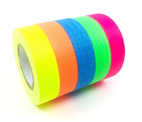 Spike Tape | USA Quality Gaffer Tape | 5 Bright Colors | by Gaffer Power