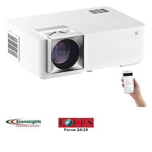 SceneLights Beamer Airplay: LED-LCD-Beamer mit WLAN, Media-Player, 1280x800 Pixel (WXGA), 3.000 lm (Beamer WiFi)