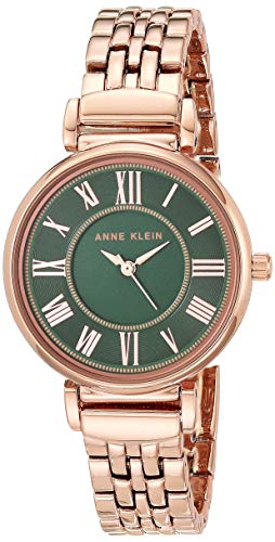 Anne Klein Women's AK/2158GNRG Rose Gold-Tone Bracelet Watch