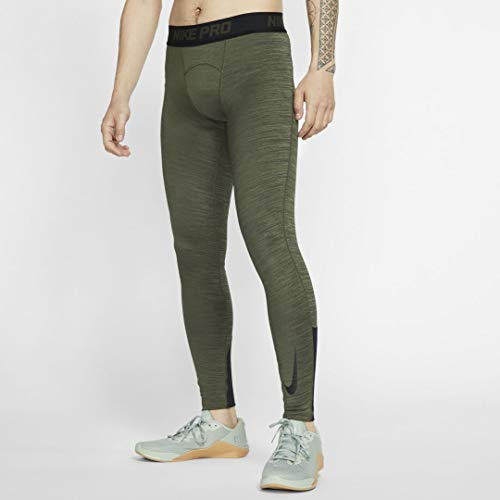 Nike Herren Pro Dri-Fit Therma Tight M Cargo Khaki/Black