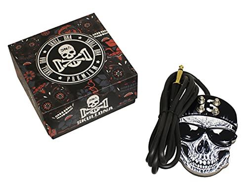 Pédale Skull DNA Black Skull avec prise jack et interrupteur à pied pour tatouage