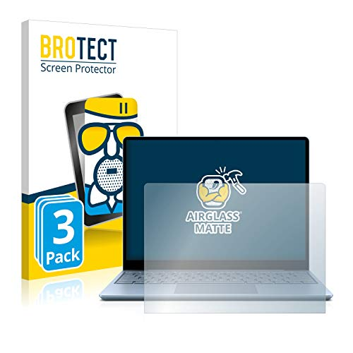 brotect Anti-Glare Glass Screen Protector compatible with Microsoft Surface Laptop Go (3 Pack) - 9H Glass Protector Matte