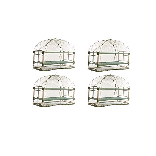 Lowest Price! Disc-O-Bed Mosquito Net and Frame for Bunkable Camping Cots, Green (4 Pack)