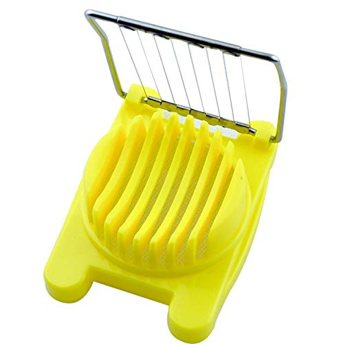 JinEamy-uk Creative Multifunction Cut Kitchen Egg Slicer Sectioner Cutter Mold Flower Edges New Kitchen Accessories Egg Shaper 3 Colors (Color : Yellow)