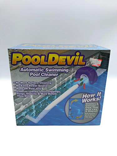 Pooldevil Pro Automatic Pool Surface Dirt and Leaf Skimmer Cleaner 100039