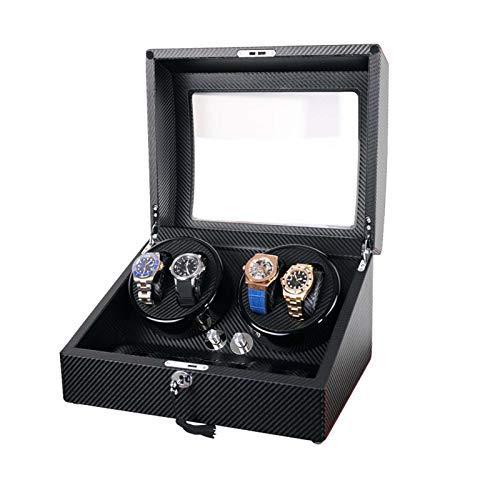 Ssrsgyp Ver Máquina De Bobinado 4 + 6pu Caja De Cadena De Bobinado Automático De Madera para Caja De Almacenamiento De Reloj Mecánico Automático Agitador(Color:UN)
