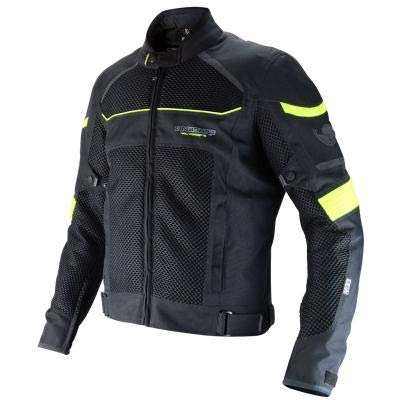 ON BOARD JM3DA - Chaqueta Cazadora ventilada Moto Short ´´3D-Air´´ Color Negro/Fluor Talla 3XL