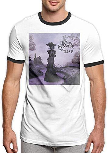 The Birthday Massacre Pins and Needles Stylish Round Neck Men's Short Sleeve T-Shirts,Black,XX-Large