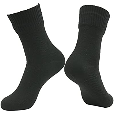 RANDY SUN 100% Waterproof Hiking Socks, Winter Sports Skiing Women's Classic Style Fashion and Function Sock(1 Pair Midcalf Black XS)