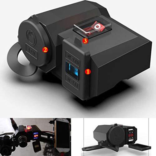 Auto Feuerzeug 12V-24V USB Motorrad Zigarettenanzünder-Ladegerät LED-Anzeige Energien-Bank-Zigarettenanzünder-Splitter Abdeckung Adapter