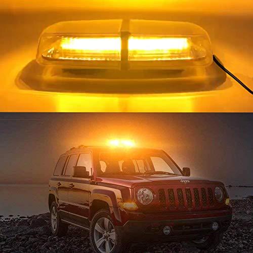 Big Hippo Warnleuchte Auto, Rundumleuchte Orange, 72 LED Wasserdicht Led Rundumleuchte 12V/24V mit 3,5M Zigarettenanzünder Kabel 7 Blitzmodus 72W Bernstein Notbeleuchtung LED Licht für alles Fahrzeug
