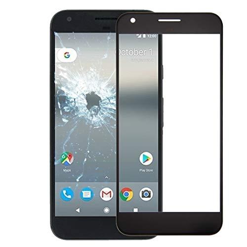 Liluyao Piezas de reparación de móviles For Google Pixella Lente de Cristal Externa de la Pantalla Frontal (Color : Blanco)