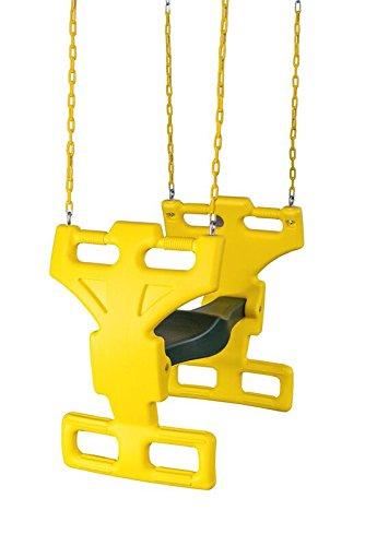 CREATIVE CEDAR DESIGNS Multi Child Glider Swing, Yellow & Green, One Size