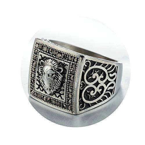 Ubestlove Signet Ring Pinky Lion Head Rings Punk Ring Women Jewellery Fashion Ring Silver R 1/2