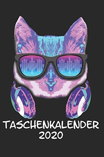 Taschenkalender 2020: Taschenkalender für Sept. 2019 bis Dezember 2020 A5 Terminplaner Wochenplaner Terminkalender Wochenkalender Organizer Musik Katze DJ Kopfhörer Kätzchen Haustier