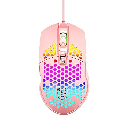 Ultraleichte Gaming-Maus, RGB-Hintergrundbeleuchtung, Mäuse mit 7 Tasten, programmierbarer Treiber, PAW3325...