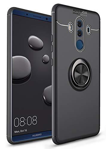 SORAKA Cover per Huawei Mate 10 PRO con Supporto dell'anello Custodia in Silicone Morbido Cover Anti-Impronta Ultrasottile Compatibile con Supporto Auto Smartphone Magnetico
