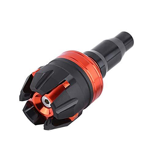 Hlyjoon Deslizadores de Cuadro Modificado Moto Protector Antideslizante para Motocicleta CNC Aleación de Aluminio Moto Deslizador del Eje de la Rueda Protección Contra Caídas(naranja)
