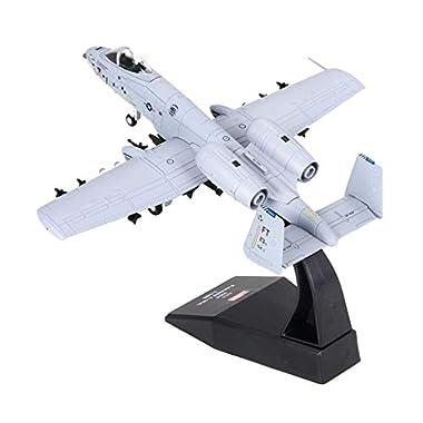 Almencla 1/100 Realistic America A-10 Attack Plane Aircraft Warcraft Model Toys Decor