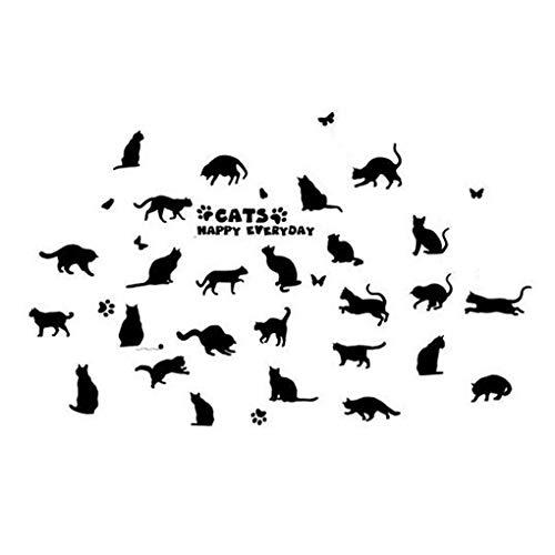 Stickers muraux romantiques avec papillons et animaux de dessin animé - Cadre photo amovible - Décoration de la maison - En PVC - Pour bébé garçons, filles - Décoration de cuisine, 1