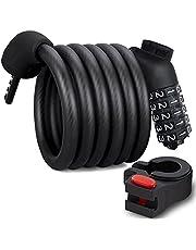 Segway-Ninebot Fietsslot 1200 mm/12 mm – lang kabelslot met 5-cijferig cijferslot, waterdicht, veilig, duurzaam, reset cijfercode slot voor fietsen, barbecue, motorfiets, deur