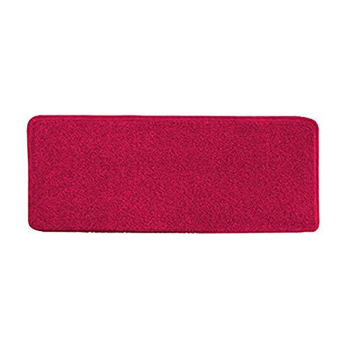 Tapis, Tapis De Marche Pour Tapis, Coussinets D'escalier Rectangulaires Durables, Anti-dérapants, Protection Pile Souple 9mm - Rouge (Couleur : 1 piece, taille : 24x90x3cm)