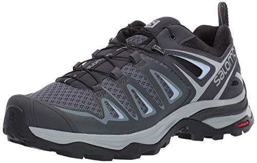 Salomon Women's X Ultra 3 Hiking Shoes, Stormy Weather/Ebony/Cashmere Blue, 9