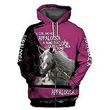 Felpa con Cappuccio Stampata 3D da Uomo Pure Horse con Cappuccio Harajuku Zip Streetwear Casual Zip Hoodies 4XL