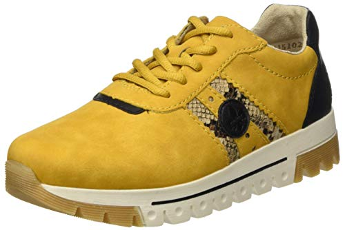 Rieker Damen L2922 Sneaker, Honig/Natur/Black 68, 41 EU