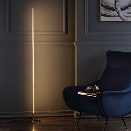 JONATHAN Y JYL7007B Iris 59.5' LED Integrated Floor Lamp Modern,Contemporary for Bedrooms, Living Room, Office, Reading, Gold